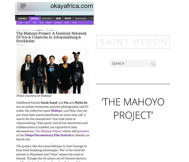 A picture of an article of the mahoyo project from okayafrica.com