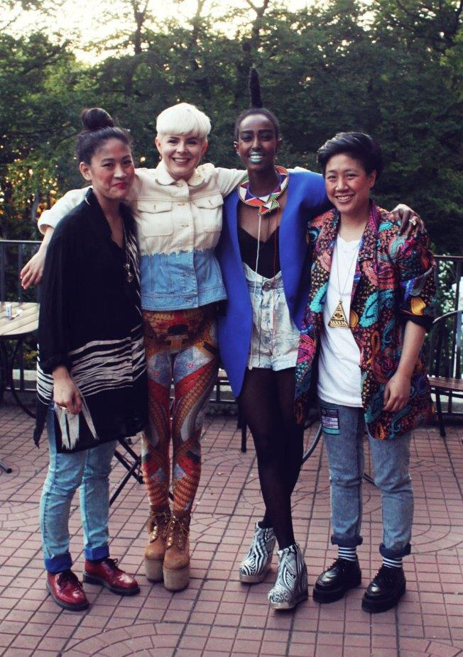 A picture of me, the artist Robyn, Farah and MyNa from Mahoyo