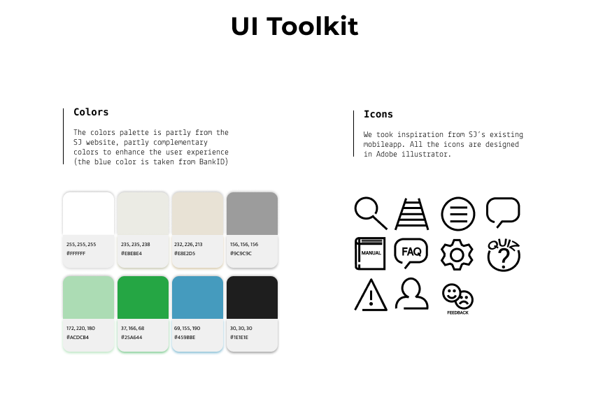 UI-toolkit of colors and icons