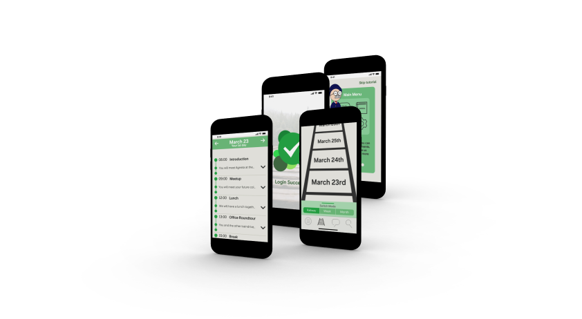 mock-up picture of the app