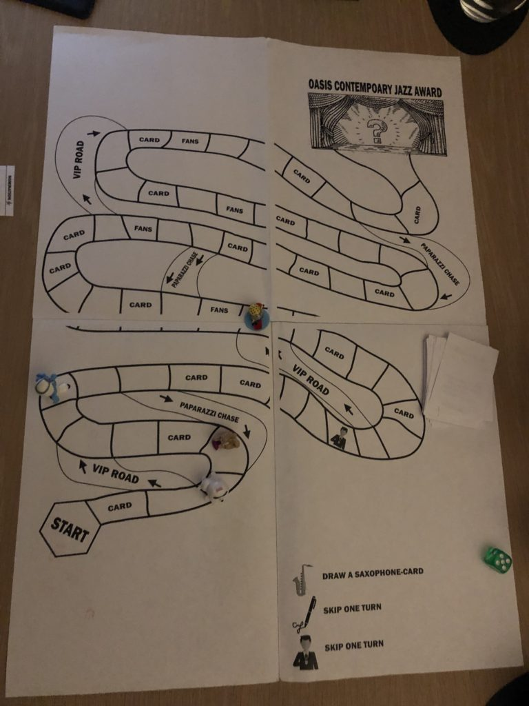 playtest of the first draft of the boardgame